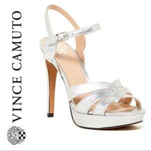 💕SALE💕Vince Camuto Silver Jillian Strappy Heels